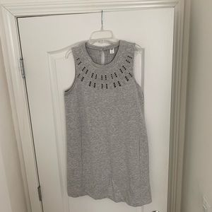 Light grey sweat material dress